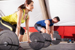 training, lifting weights